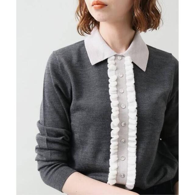 IENA(イエナ)のIENA ウールシルクフリルプルオーバー イエナ レディースのトップス(ニット/セーター)の商品写真