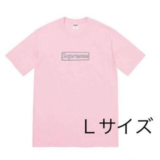 Supreme - Supreme KAWS Chalk Logo Tee Pink  L  ピンク