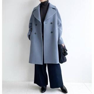 IENA - 新品 人気商品 IENA イエナ ダブルモッサコート ブルー 38サイズ