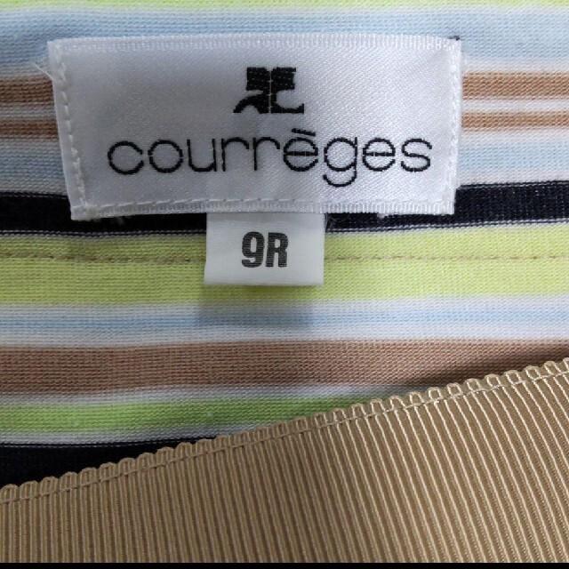 Courreges(クレージュ)のCourreges(クレージュ) 半袖カットソー 5色のボーダー 9R レディースのトップス(カットソー(半袖/袖なし))の商品写真