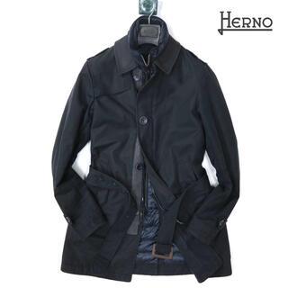 HERNO - ヘルノ HERNO 14万最高級ポリインナーダウン付きコート