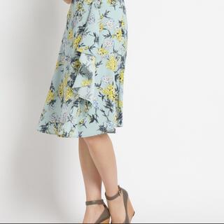 エージーバイアクアガール(AG by aquagirl)のエージーバイアクアガール スカート 花柄(ひざ丈スカート)