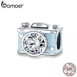 【売り尽くしセール】bamoer バモア シルバー925 チャーム ブルーカメラ