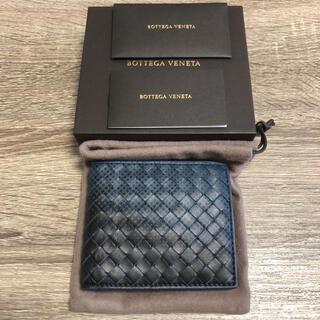 ボッテガヴェネタ(Bottega Veneta)の美品 ボッテガヴェネタ イントレチャート 二つ折り財布 レザー(折り財布)