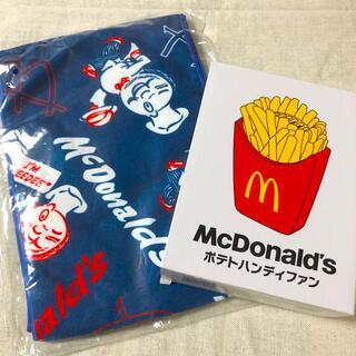 マクドナルド(マクドナルド)のマクドナルド☆ポテトハンディファン&ひんやりタオル(ノベルティグッズ)