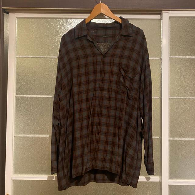 COMOLI(コモリ)のcomoli レーヨンチェックシャツ  メンズのトップス(シャツ)の商品写真