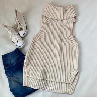 マディソンブルー(MADISONBLUE)の美品✨マディソンブルー ノースリーブ ニット 秋服 冬服 ウール セーター(ニット/セーター)
