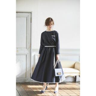 Drawer - 未使用seventen ペイズリージャガードスカート(ネイビー)Mサイズ