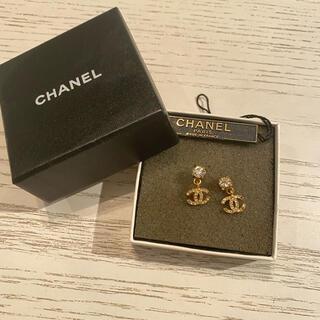 CHANEL - Chanel cocoシャネルロゴピアスシリアルナンバーゴールドストーン