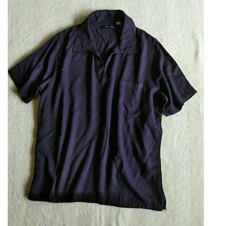 チャオパニック(Ciaopanic)のciaopanic ネイビー とろみ 半袖トップス(カットソー(半袖/袖なし))