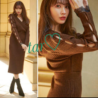snidel - her lip to Wrap-Effect Knit Dress