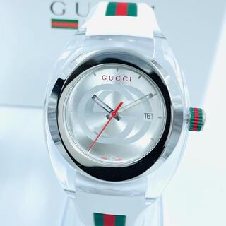 Gucci - 新品 エレガンスGUCCI WATCH SYNCグッチ腕時計ホワイトシルバー