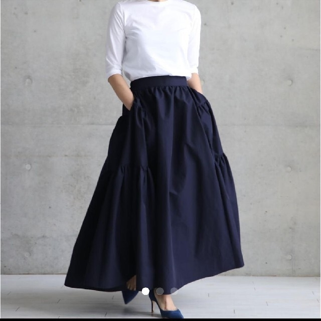 Drawer(ドゥロワー)の新品未使用 she tokyo  シートーキョー ミッシェル BK レディースのスカート(ロングスカート)の商品写真