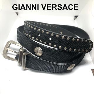 ジャンニヴェルサーチ(Gianni Versace)のジャンニヴェルサーチ パイソンレザーベルト 100/Gianni Versace(ベルト)