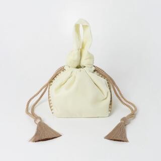 アーバンリサーチ(URBAN RESEARCH)のJAMIRAY VELVET CROCHE BUSKET BAG(ハンドバッグ)