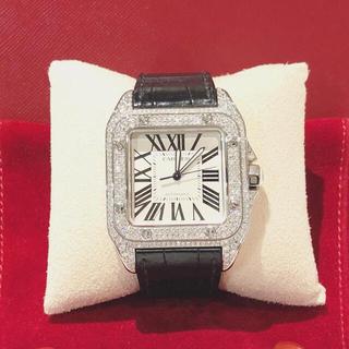 Cartier - カルティエ サントス100MM フルダイヤ