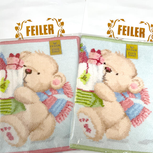 FEILER(フェイラー)の【新品】フェイラー FEILER タオルハンカチ 2枚セット プレゼント袋付 レディースのファッション小物(ハンカチ)の商品写真