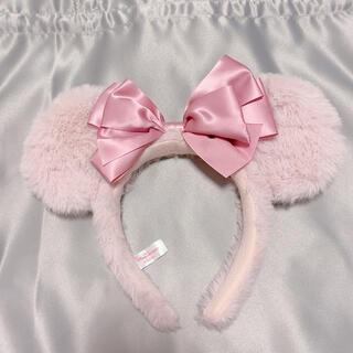 Disney - ディズニー カチューシャ ピンク ファー
