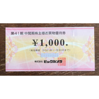 ② ビックカメラ 株主優待券 1,000円分(ショッピング)