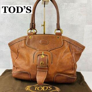 トッズ(TOD'S)のトッズ トートバッグ A4収納可能 レザー 茶色 ワンポイントロゴ(トートバッグ)
