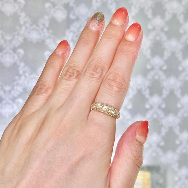 K18 ミル打ちパヴェダイヤモンドリング D1.70ct10号 フルダイヤモンド レディースのアクセサリー(リング(指輪))の商品写真