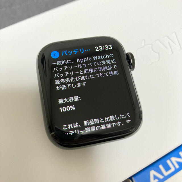 Apple Watch(アップルウォッチ)のApple Watch series5 ステンレス ブラック 美品 40mm スマホ/家電/カメラのスマートフォン/携帯電話(その他)の商品写真
