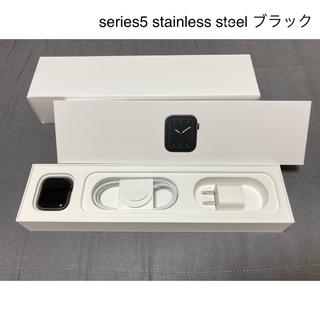 Apple Watch - Apple Watch series5 ステンレス ブラック 美品 40mm
