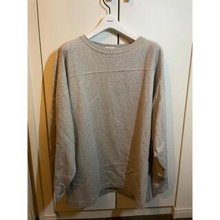 コモリ(COMOLI)のcomoli フットボールTシャツ グレー 1(Tシャツ/カットソー(七分/長袖))