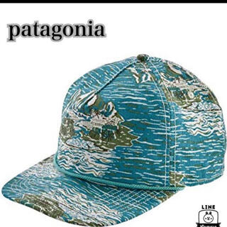 パタゴニア(patagonia)の【新品】パタゴニア patagonia キャップ ブルー系(キャップ)