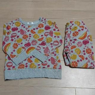 アンパサンド(ampersand)の美品 ampersand アンパサンド 長袖パジャマ  100(パジャマ)
