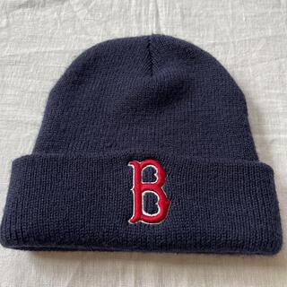 ニューエラー(NEW ERA)のBOSTON REDSOX レッドソックス ニットキャップ ビーニー ニット帽(ニット帽/ビーニー)