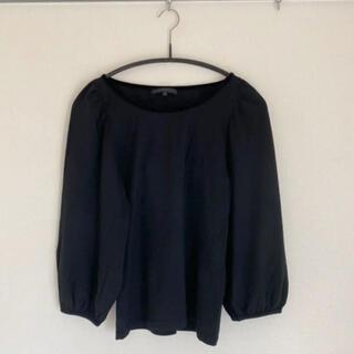 アナイ(ANAYI)の【秋冬】アナイ ニット ベルスリーブ 黒 38サイズ(ニット/セーター)