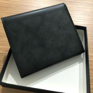 新品未使用 財布 メンズ 二つ折り ブライドルレザー ダークグリーン 小銭入れ