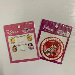 ディズニー(Disney)の女の子用ワッペン(ディズニープリンセス)新品(ネームタグ)