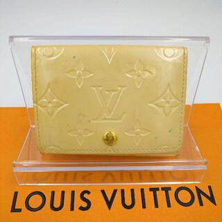 LOUIS VUITTON - ルイヴィトン ヴェルニレザー カードケース コインケース ベージュ