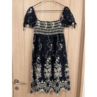 グレースコンチネンタル(GRACE CONTINENTAL)のワンピース ドレス 刺繍(ひざ丈ワンピース)