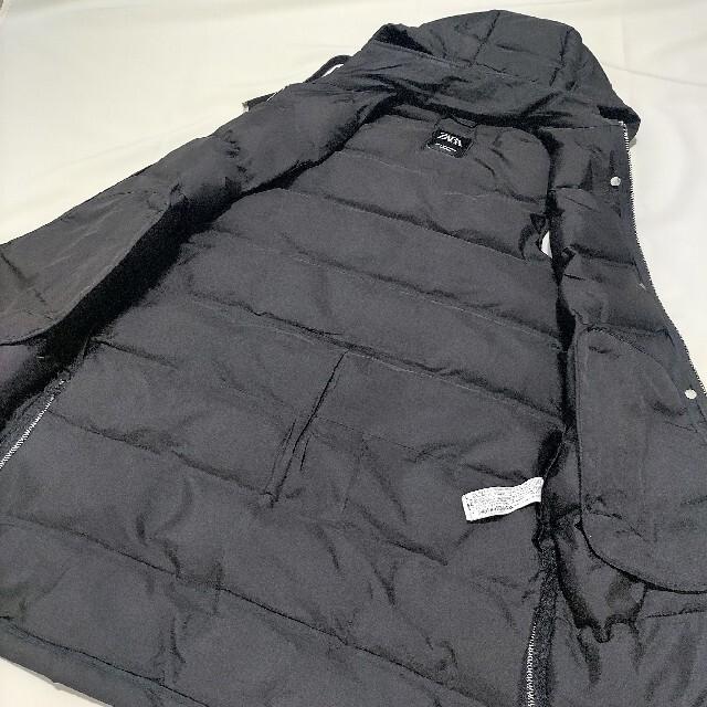 ZARA(ザラ)の【ZARA】【送料込み】フード付きキルティングベスト ブラック レディースのジャケット/アウター(その他)の商品写真