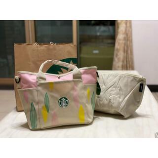 Starbucks Coffee - スターバックス 海外台湾 保冷バッグ付き トートーバッグ
