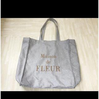 Maison de FLEUR - メゾンドフルール トートバッグ キャンバス グレー ベージュ グレージュ