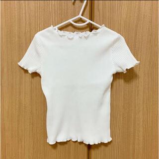 グローバルワーク(GLOBAL WORK)のグローバルワーク 100cm〜110cm M 子供服 ホワイト Tシャツ(Tシャツ/カットソー)