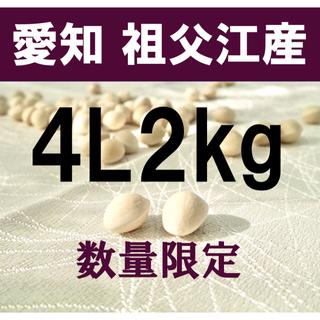 最終値下げ中❗️生産者直送 久寿ぎんなん 愛知県 祖父江産 銀杏 4L 2kg(野菜)