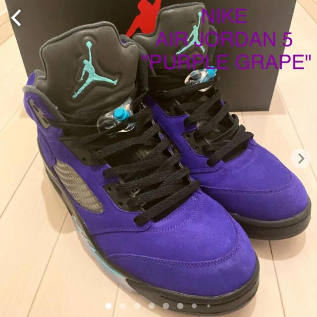 "NIKE(ナイキ)のナイキ エアジョーダン5 ""パープルグレープ"" NIKE AIRJORDAN 5 メンズの靴/シューズ(スニーカー)の商品写真"