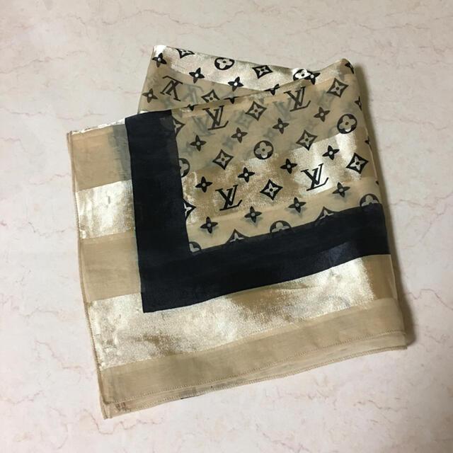 LOUIS VUITTON(ルイヴィトン)のルイヴィトン スカーフ 難あり レディースのファッション小物(バンダナ/スカーフ)の商品写真