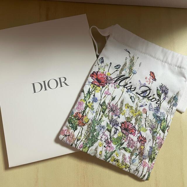 Dior(ディオール)のミス ディオール ノベルティ 刺繍巾着ポーチ レディースのファッション小物(ポーチ)の商品写真