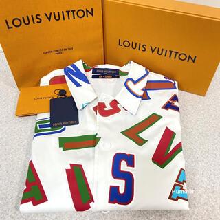 LOUIS VUITTON - 国内正規品 新品同様 ルイヴィトン×NBA 半袖 レター オーバー シャツ