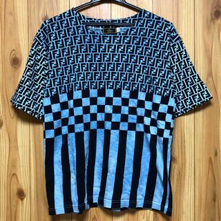 FENDI - 難有 オールド FENDI フェンディ ズッカ柄 半袖 Tシャツ