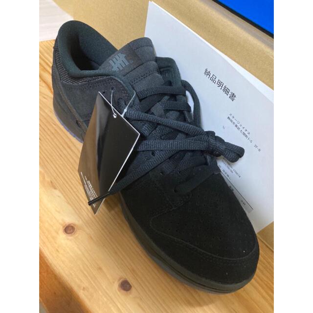 NIKE(ナイキ)の28.0cm UNDEFEATED × NIKE DUNK LOW BLACK メンズの靴/シューズ(スニーカー)の商品写真