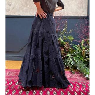 IENA -  【最終値下げ】IENA LA BOUCLE リーフ柄レースティアードスカート