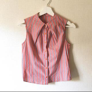 リリーブラウン(Lily Brown)のリリーブラウン ストライプシャツ(シャツ/ブラウス(半袖/袖なし))