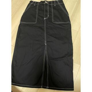 アベイル(Avail)の(黒)タイトスカート(ひざ丈スカート)